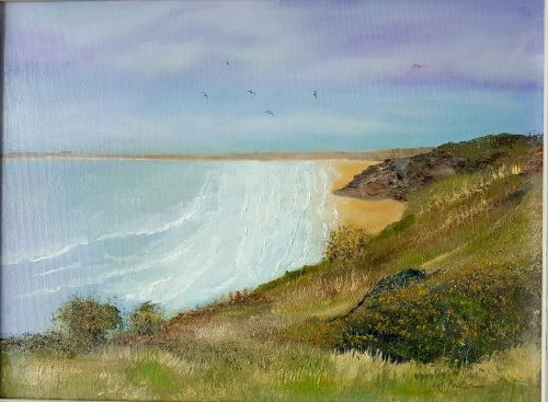 Coastal Path View by June Anderson