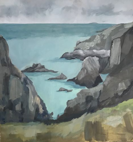 A distant Grassholm by Sarah Burns