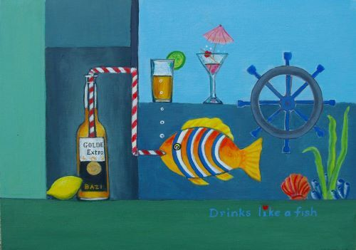SOLD Drinks like a fish by Lett Harris