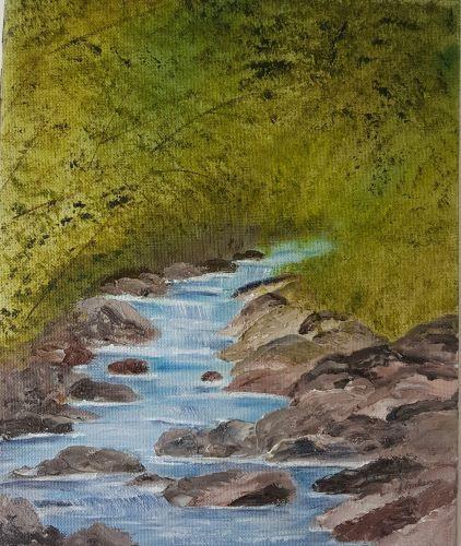 Flowing Water by June Anderson