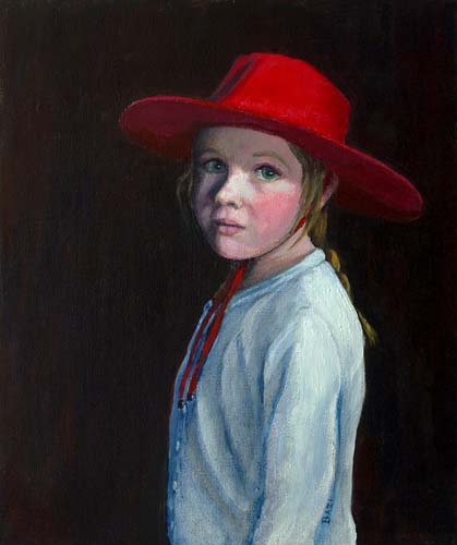 Girl in Red Hat
