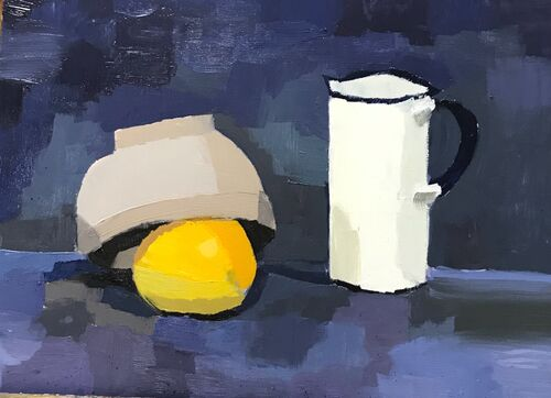 Lemon & Jug Still Life -SOLD