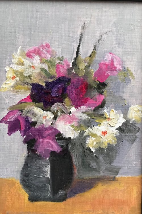 Grey Vase by Sarah Burns
