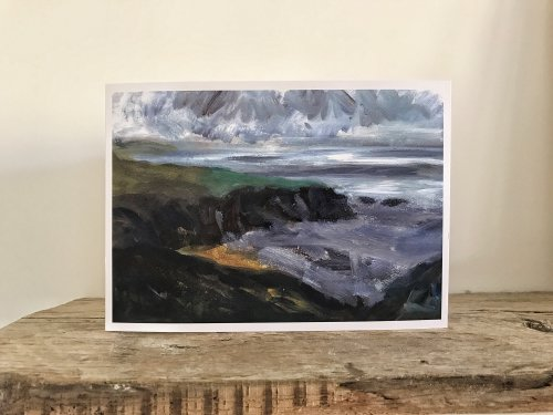 Caerfai Bay Light Greetings Card