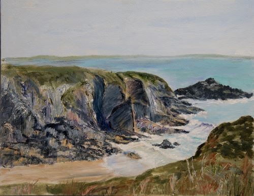 Low tide at Caerfai by Maggie Humble