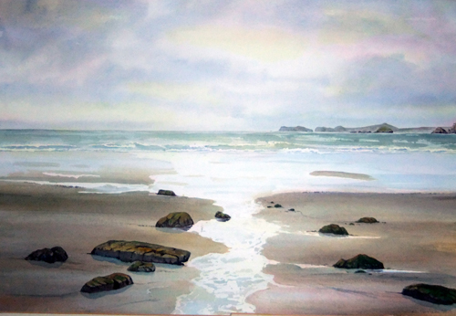 Morning Light, Newgale by Ruth Coulson