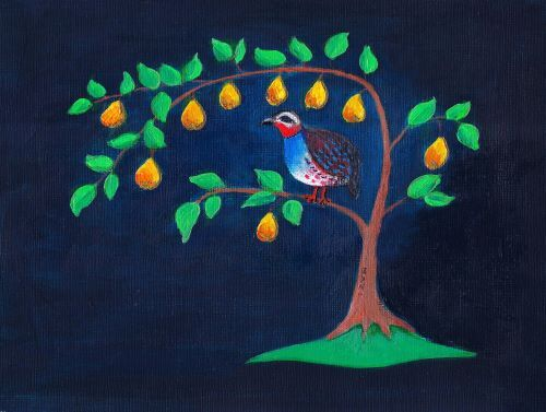 SOLD Partridge in a Pear Tree by Lett Harris