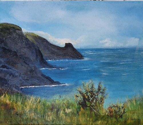 Ricketts Head, Newgale by June Anderson