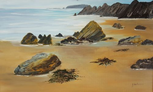Rocky Shore by June Anderson