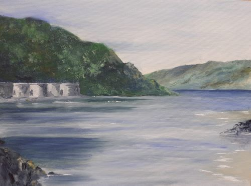 SOLD Solitude - Solva Harbour by Delith Williams