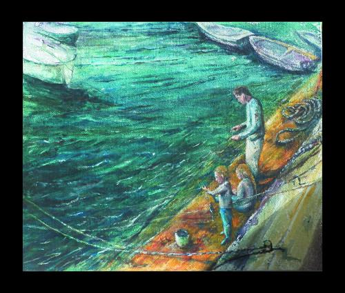 Crabbing at Solva