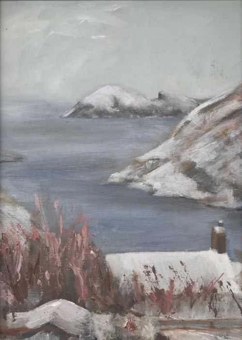 SOLD Greenscar in Winter by Sarah Burns