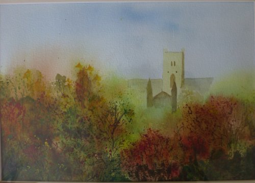 Cathedral in Autumn by Maureen Evans Sold