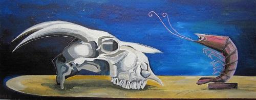 Skull + Prawn by Victoria Barker