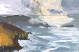 Solva Harbour Storm by Nicola Schoenenberger