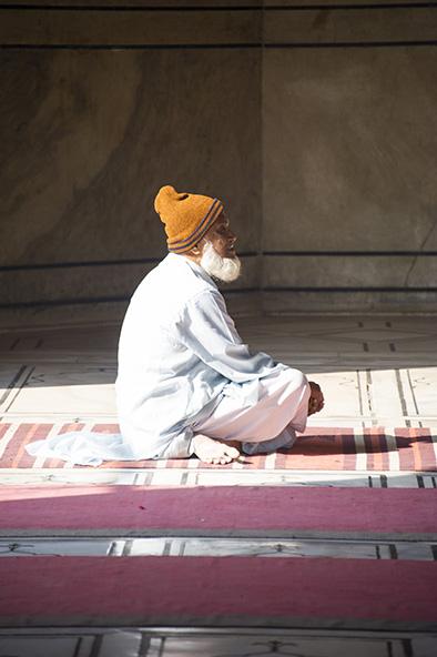At prayer, Mosque Delhi