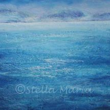 blue blue seas, an acrylic painting by stella maria art of solihull