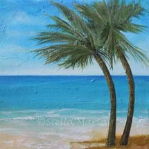 """""""swaying palms an acrylic painting by stella maria art solihull"""""""