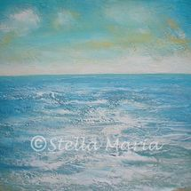 turquoise dream acrylic painting by stella maria art 12in x 12in solihull