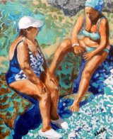 Back and forth in Ischia oils 25x30x1.5cms