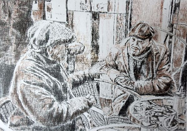 Bar Italia customers drawing SOLD