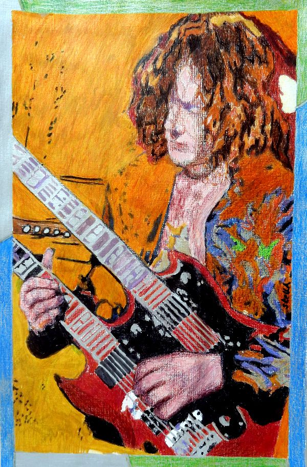 Boot Led Zeppelin Jimmy Page drawing