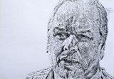 Adam Boulton Sky News Editor at Large drawing