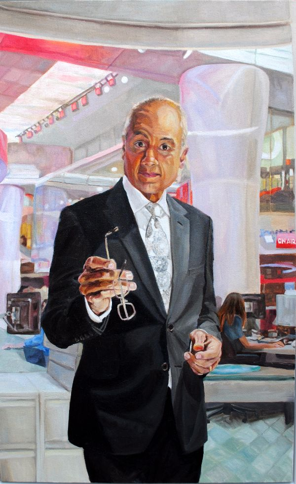 George Alagiah Presenter BBC News at 6 oils