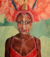 Jumping up! Notting Hill Carnival 83x73x5cms