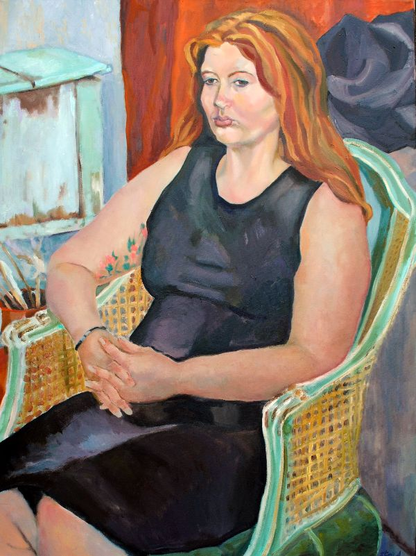 Cordelia seated oils
