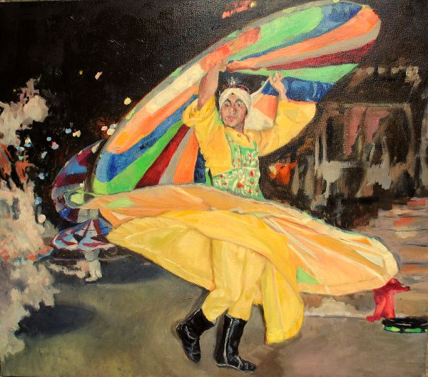 The whirling dervish oils 73x83x5cms