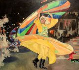 The whirling dervish 73x83x5cms