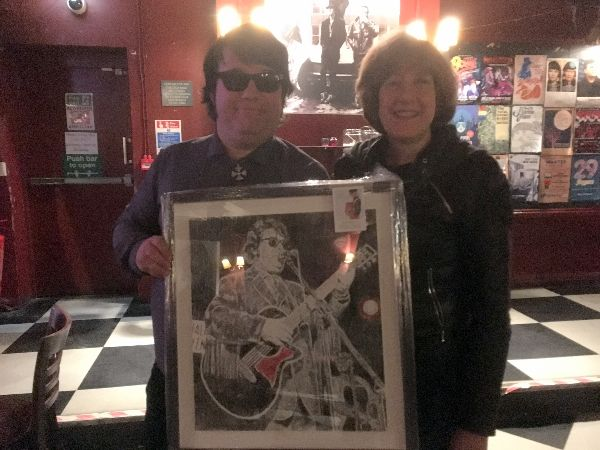 Musician Dave Collison aka Roy Orbison & portrait commissioned from Stella Tooth (pictured)