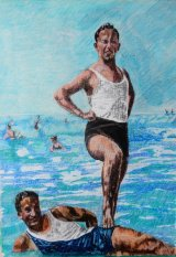 Des baigneurs France les annees 1930
