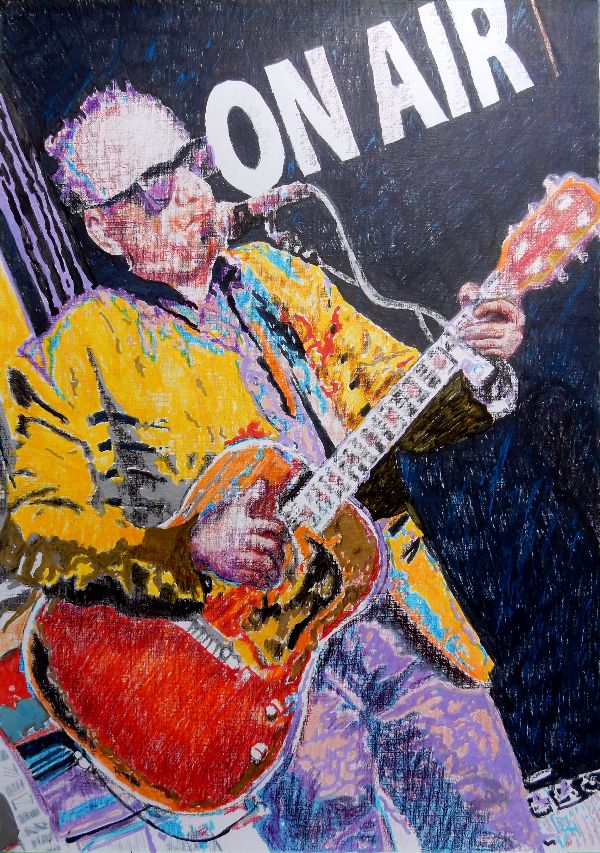 Elvis Costello drawing