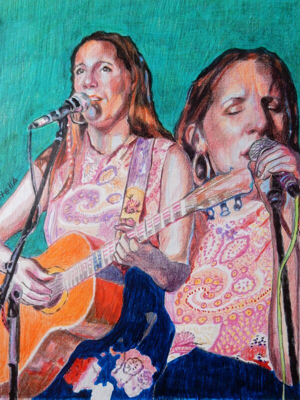 Firefly - Musician Martha Tilson at Half Moon Putney portrait drawing by Stella Tooth