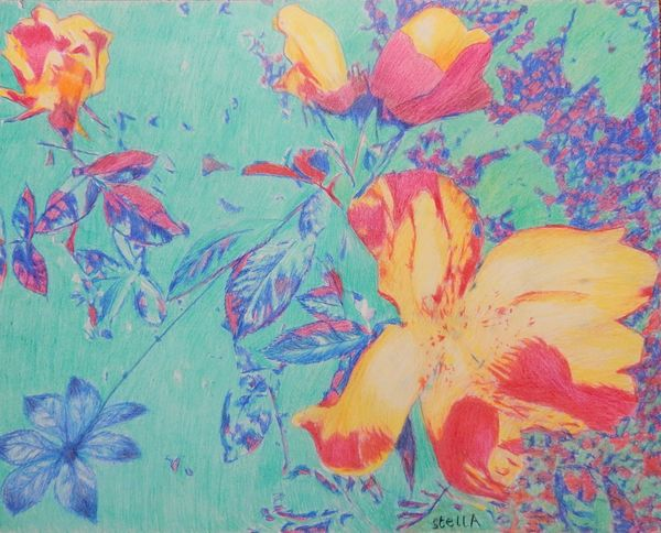 Allium floral art by Stella Tooth
