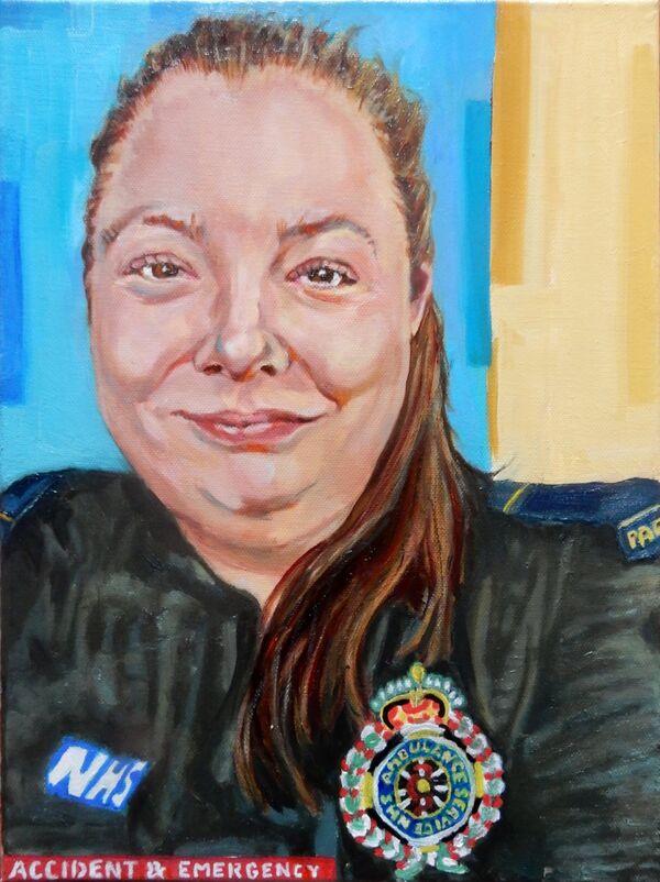 Helen Chiverton #portraitsfornhsheroes by Stella Tooth PORTRAIT ART FIGURATIVE ART REPRESENTATIONAL ART
