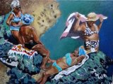 Ischia friends oils 30x40x2 cms