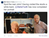 John Humphrys and my portrait of him on Twitter