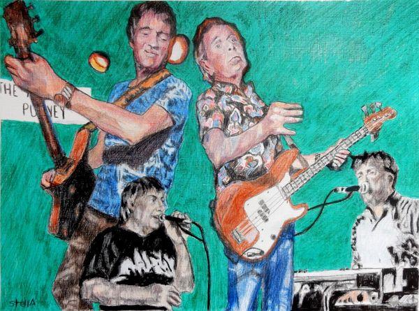 Kast off Kinks drawing 40x50x2cm framed