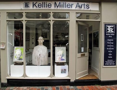 Kellie Miller Arts - Summer show window with Stella Tooth drawings