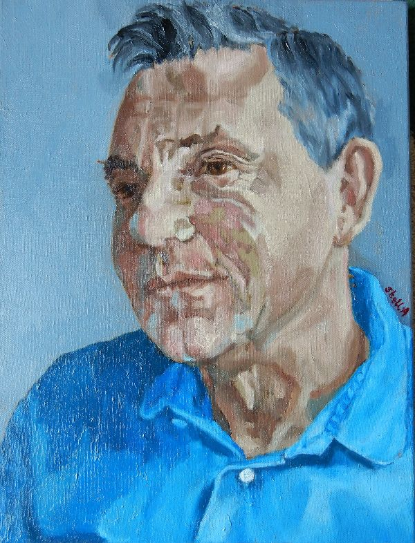 Martin Le Jeune oil portrait commission by Stella Tooth