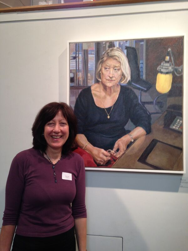 Stella Tooth and portrait of Kate Adie at Royal Society of Portrait Painters show