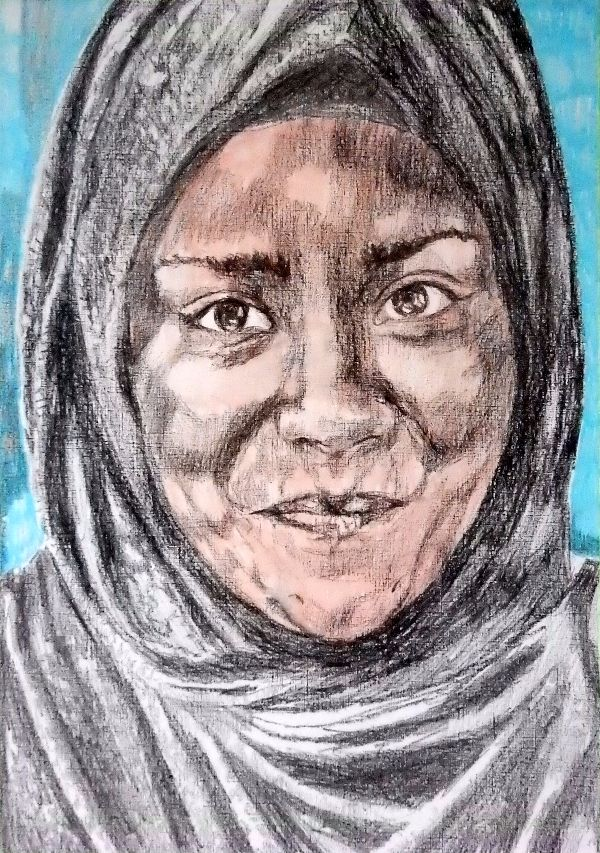 Nadiya Hussain drawing