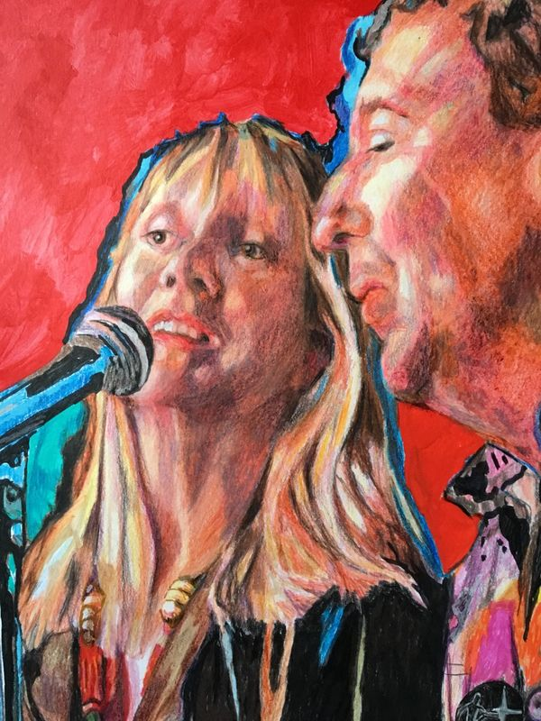 Rock star experience - detail of portrait by Stella Tooth