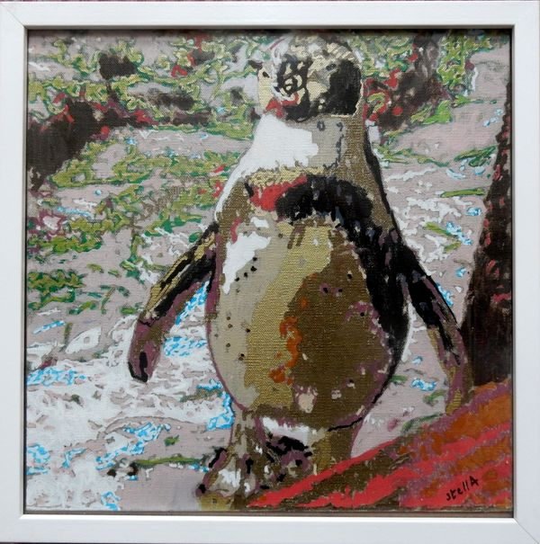 Percy Penguin £60 canvas board framed