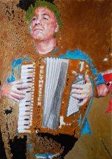 Police Dog Hogan's Shahen Galichian on accordion