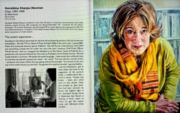 Portrayed! LRG exhibition catalogue - Stella Tooth spread featuring portrait of Geraldine Sharpe-Newton