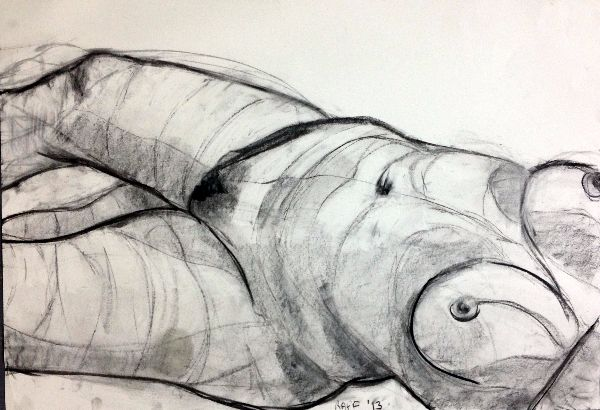 Raff life drawing by Stella Tooth